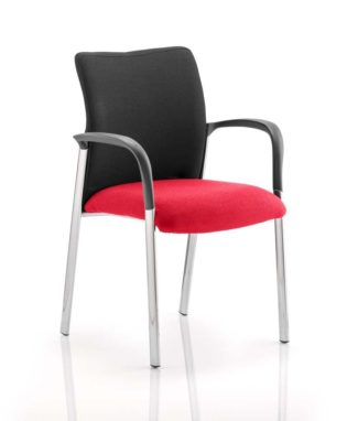 Academy Black Fabric Back Bespoke Colour Seat With Arms Bergamot Cherry | Nobis Office Furniture