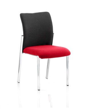 Academy Black Fabric Back Bespoke Colour Seat Without Arms Bergamot Cherry | Nobis Office Furniture