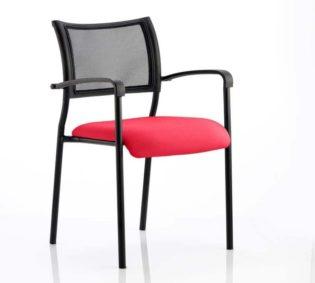 Brunswick Bespoke Colour Seat Black Frame Bergamot Cherry | Nobis Office Furniture