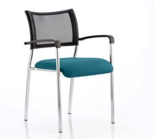 Brunswick Bespoke Colour Seat Chrome Frame Maringa Teal | Nobis Office Furniture