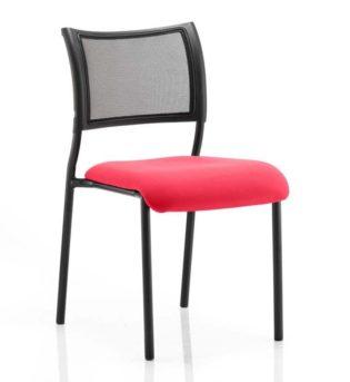 Brunswick No Arm Bespoke Colour Seat Black Frame Bergamot Cherry | Nobis Office Furniture