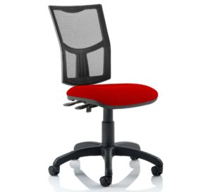 Eclipse Plus II Lever Task Operator Chair Mesh Back With Bespoke Colour Seat in Bergamot Cherry   Nobis Office Furniture