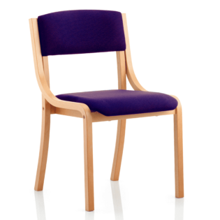 Madrid No Arms Bespoke Colour Tansy Purple | Nobis Office Furniture